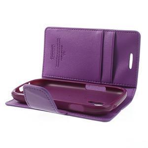 Diary PU kožené pouzdro na Samsung Galaxy S3 mini - fialové - 6