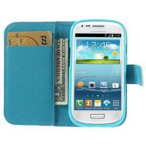 Knížkové puzdro pre mobil Samsung Galaxy S3 mini - kvety - 6