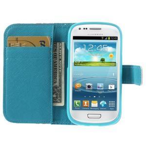 Knížkové puzdro pre mobil Samsung Galaxy S3 mini - tlapky - 6