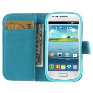 Knížkové pouzdro na mobil Samsung Galaxy S3 mini - autíčka - 6