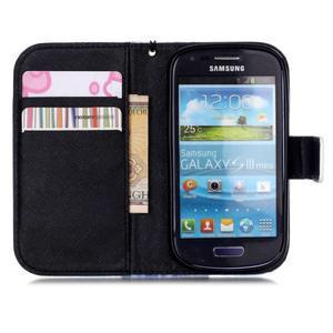 Knížkové PU kožené pouzdro na Samsung Galaxy S3 mini - nedotýkat se - 6
