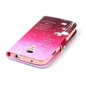 Emotive knížkové puzdro pre Samsung Galaxy S4 - púpavy - 6