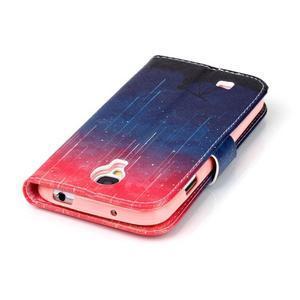 Emotive knížkové pouzdro na Samsung Galaxy S4 - meteory - 6