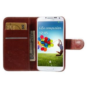 Elegant peněženkové pouzdro na Samsung Galaxy S4 - retro květina - 6