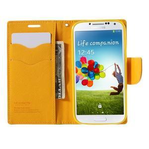 Sunny PU kožené puzdro pre mobil Samsung Galaxy S4 - zelené - 6