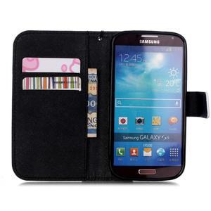 Knížkové koženkové pouzdro na Samsung Galaxy S4 - lebka - 6