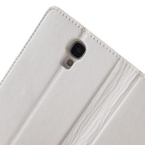 Diary PU kožené puzdro pre mobil Samsung Galaxy S4 - biele - 6