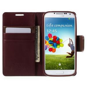 Diary PU kožené pouzdro na mobil Samsung Galaxy S4 - vínové - 6