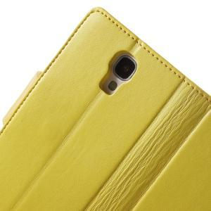 Diary PU kožené puzdro pre mobil Samsung Galaxy S4 - žlté - 6