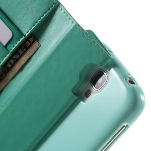 Diary PU kožené pouzdro na mobil Samsung Galaxy S4 - azurové - 6