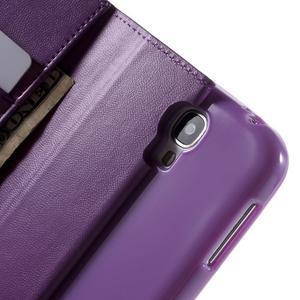 Diary PU kožené puzdro pre mobil Samsung Galaxy S4 - fialové - 6