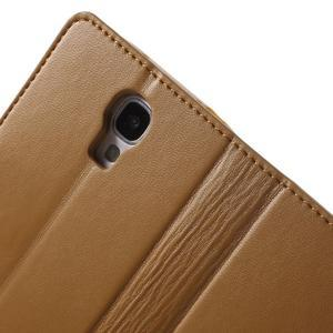 Diary PU kožené puzdro pre mobil Samsung Galaxy S4 - hnedé - 6