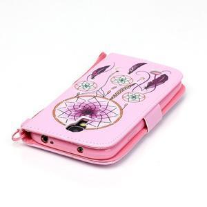 Knížkové koženkové puzdro pre Samsung Galaxy S4 - lapač snov - 6