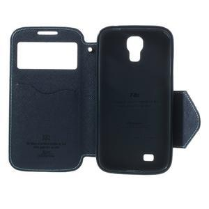 Okýnkové peňaženkové puzdro pre mobil Samsung Galaxy S4 - svetlomodré - 6