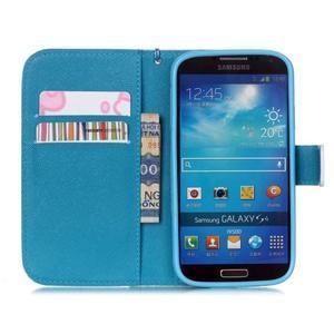 Knížkové koženkové pouzdro na Samsung Galaxy S4 - snowman - 6