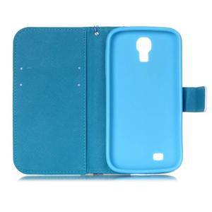 Diary peňaženkové puzdro pre mobil Samsung Galaxy S4 mini - farebné lístky - 6