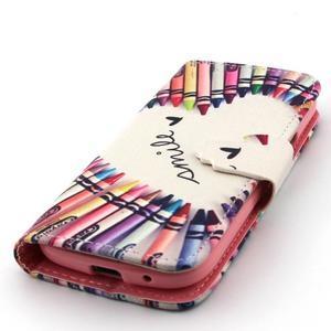 Diaryleather puzdro pre mobil Samsung Galaxy S4 mini - smile - 6