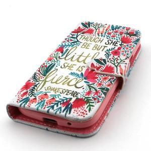 Diaryleather puzdro pre mobil Samsung Galaxy S4 mini - Shakespeare - 6