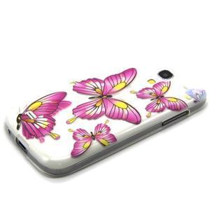 Transparentný gélový obal pre Samsung Galaxy S4 mini - motýle - 6
