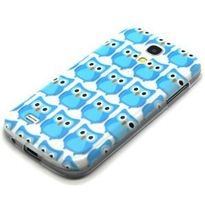 Transparentní gelový obal na Samsung Galaxy S4 mini - modré sovičky - 6