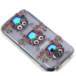Transparentný gélový obal pre Samsung Galaxy S4 mini - sovičky - 6