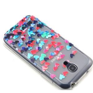Transparentní gelový obal na Samsung Galaxy S4 mini - srdíčka - 6
