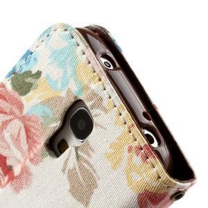 Květinkové pouzdro na mobil Samsung Galaxy S4 mini - bílé pozadí - 6