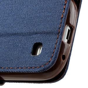 Jeans stylové pouzdro na mobil Samsung Galaxy S4 mini - tmavěmodré - 6