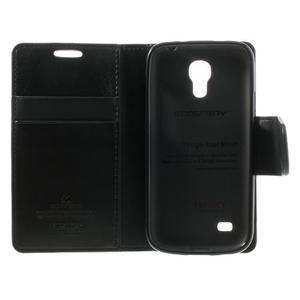 Sonata PU kožené pouzdro na mobil Samsung Galaxy S4 mini - černé - 6
