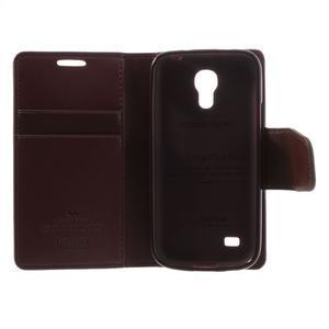 Sonata PU kožené pouzdro na mobil Samsung Galaxy S4 mini - vínové - 6