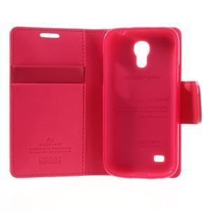 Sonata PU kožené pouzdro na mobil Samsung Galaxy S4 mini - rose - 6