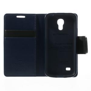 Sonata PU kožené puzdro pre mobil Samsung Galaxy S4 mini - tmavomodré - 6