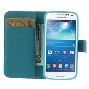 Style peňaženkové puzdro pre Samsung Galaxy S4 mini - kvietky - 6