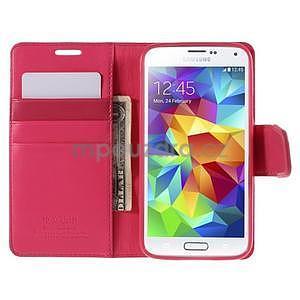 Elegantní peněženkové pouzdro na Samsung Galaxy S5 - rose - 6