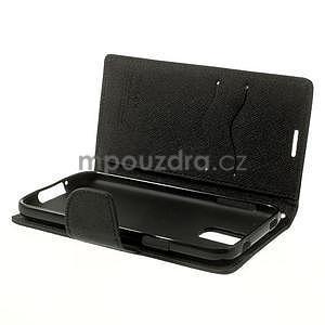 Diary peňaženkové puzdro pre Samsung Galaxy S5 - čierne - 6