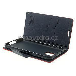 Diary peňaženkové puzdro pre Samsung Galaxy S5 - červené - 6
