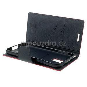 Diary peňaženkové puzdro pre Samsung Galaxy S5 - rose - 6