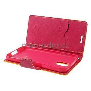 Diary peňaženkové puzdro pre Samsung Galaxy S5 - žlté - 6