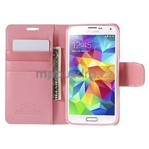 Elegantní peněženkové pouzdro na Samsung Galaxy S5 - růžové - 6
