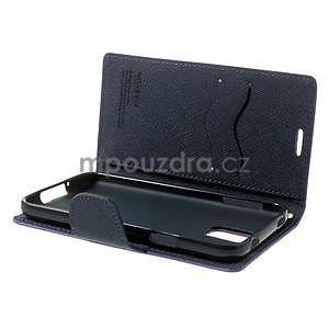 Diary peněženkové pouzdro na Samsung Galaxy S5 - fialové - 6