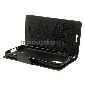Diary peňaženkové puzdro pre Samsung Galaxy S5 - hnedé - 6