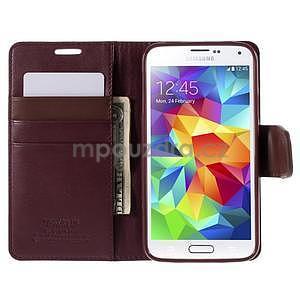 Elegantní peňaženkové puzdro pre Samsung Galaxy S5 - vínové - 6