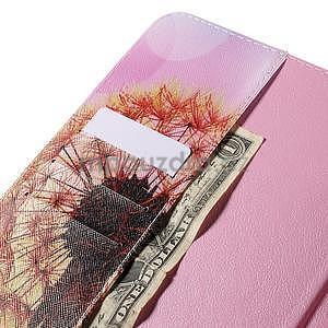 Ochranné koženkové puzdro na Samsung Galaxy Tab E 9.6 - oranžové púpavy - 6