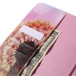 Ochranné koženkové puzdro na Samsung Galaxy Tab E 9.6 - oranžové púpavy - 6/7