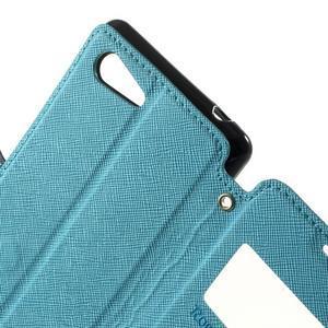 Peňaženkové puzdro s okienkom na Sony Xperia E3 - svetlomodré - 6