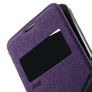 Peněženkové pouzdro s okýnkem na Sony Xperia E3 - fialové - 6