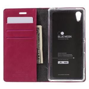 Moons PU kožené klopové pouzdro na Sony Xperia M4 Aqua - rose - 6