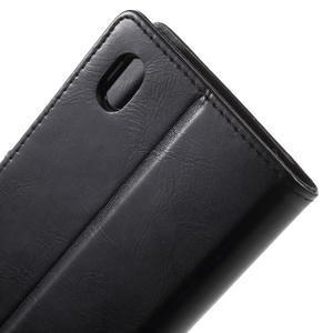 Moon PU kožené pouzdro na mobil Sony Xperia M4 Aqua - černé - 6