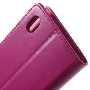 Moon PU kožené puzdro pre mobil Sony Xperia M4 Aqua - rose - 6