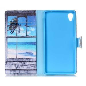 Emotive puzdro pre mobil Sony Xperia M4 Aqua - plážová scenérie - 6